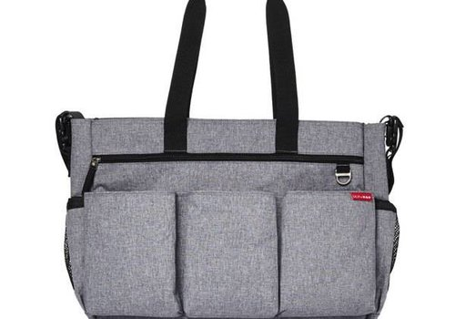 Skip Hop Skip Hop Duo Double Side By Side Diaper Bag In Signature Heather Grey