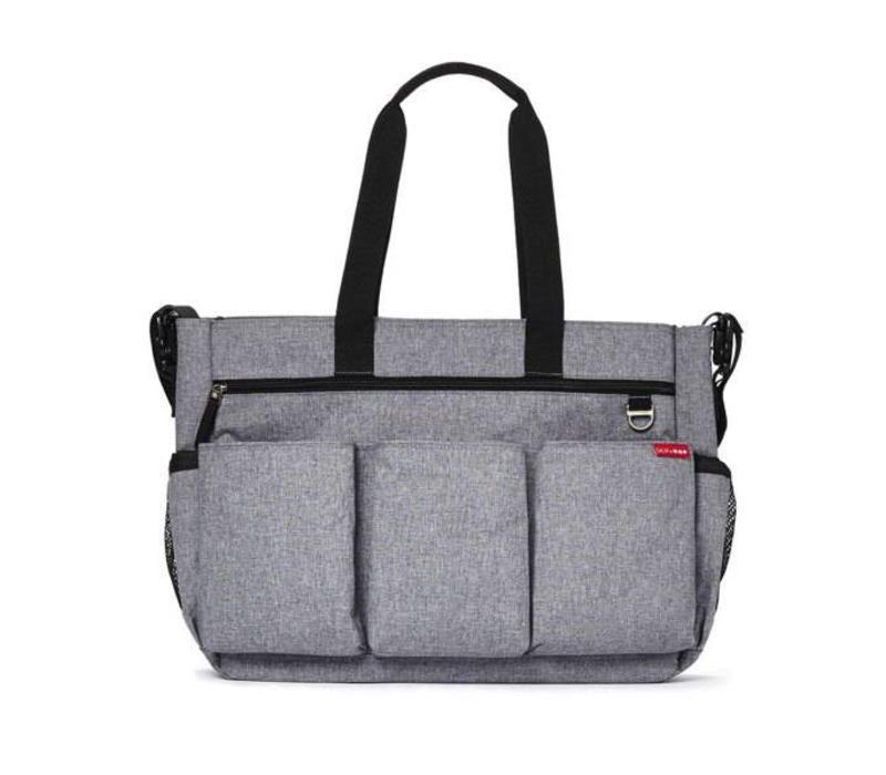 Skip Hop Duo Double Side By Side Diaper Bag In Signature Heather Grey