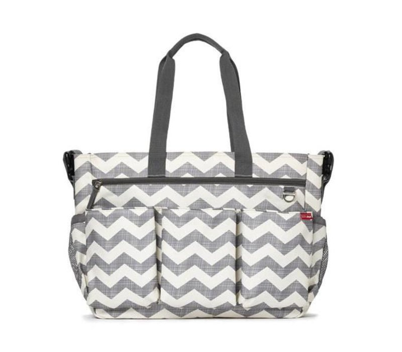 Skip Hop Duo Double Side By Side Diaper Bag In Signature Chevron