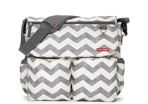 Skip Hop Skip Hop Dash Messenger Diaper Bag In Signature Chevron