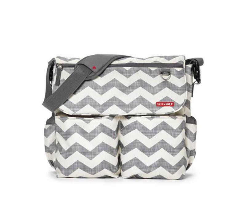 Skip Hop Dash Messenger Diaper Bag In Signature Chevron