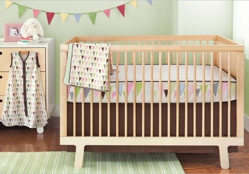 Skip Hop CLOSEOUT!!! Skip Hop Pretty Pennant 4 Piece Bumper Free Bedding Set