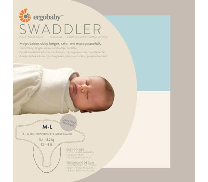 Ergobaby Swaddler In Blue And Natural Medium-Large