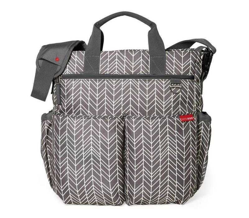 Skip Hop Duo Signature In Grey Feather