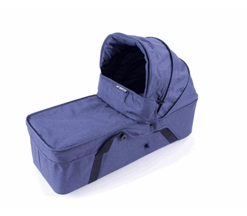 Baby Monsters Easy Twin Side Carrycot - Denim Left Side - Denim (Jeans)