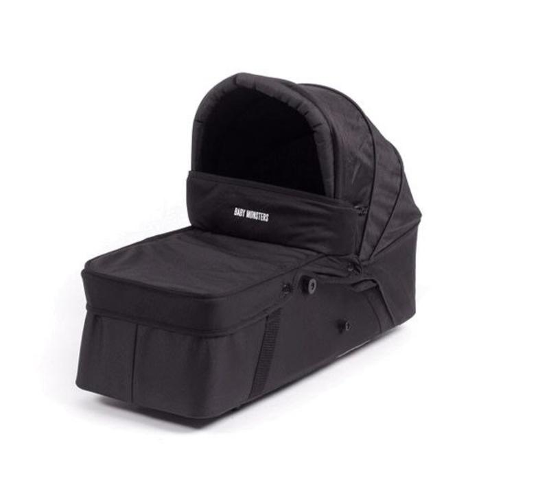 Baby Monsters Easy Twin Side Carrycot - Black
