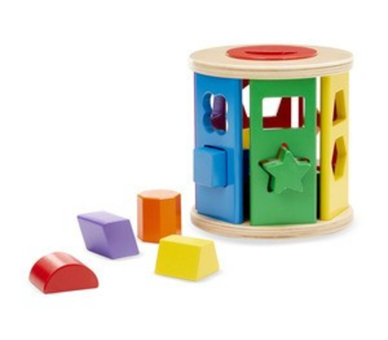 Melissa And Doug Match And Roll Shape Sorter