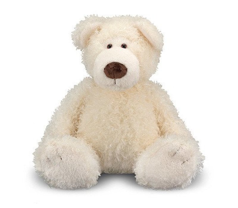Melissa And Doug Big Roscoe Vanilla Teddy Bear Stuffed Animal