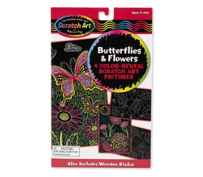 Melissa And Doug Color-Reveal Pictures - Butterflies And Flowers