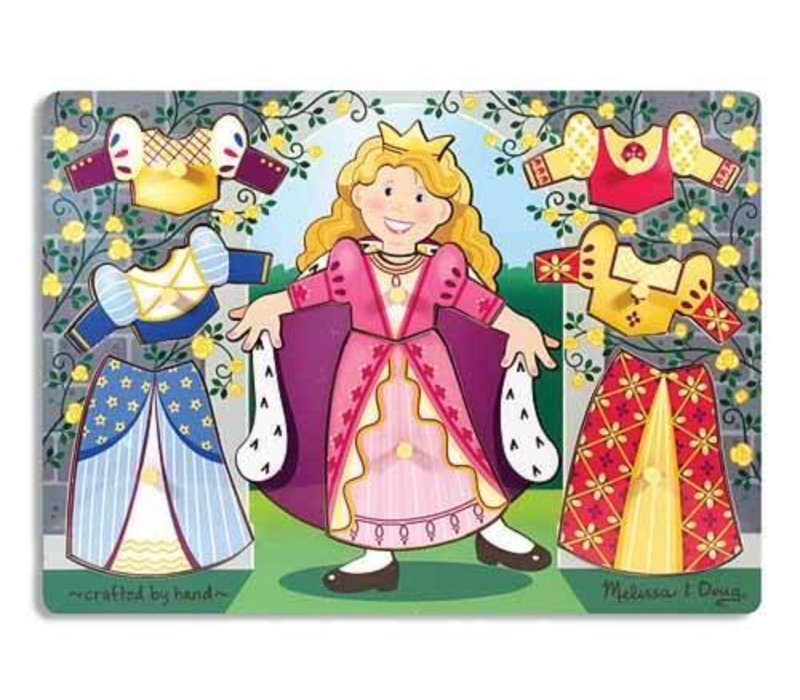 Melissa And Doug Princess Dress Up Mix and Match Peg