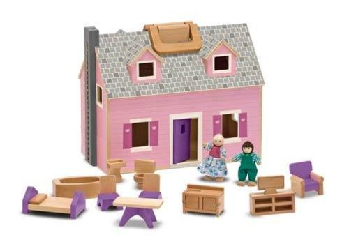Melissa And Doug Melissa And Doug Fold And Go Mini Dollhouse