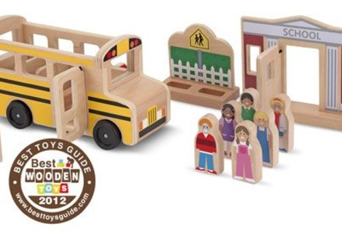 Melissa And Doug Melissa And Doug Whittle World Wooden School Bus Set