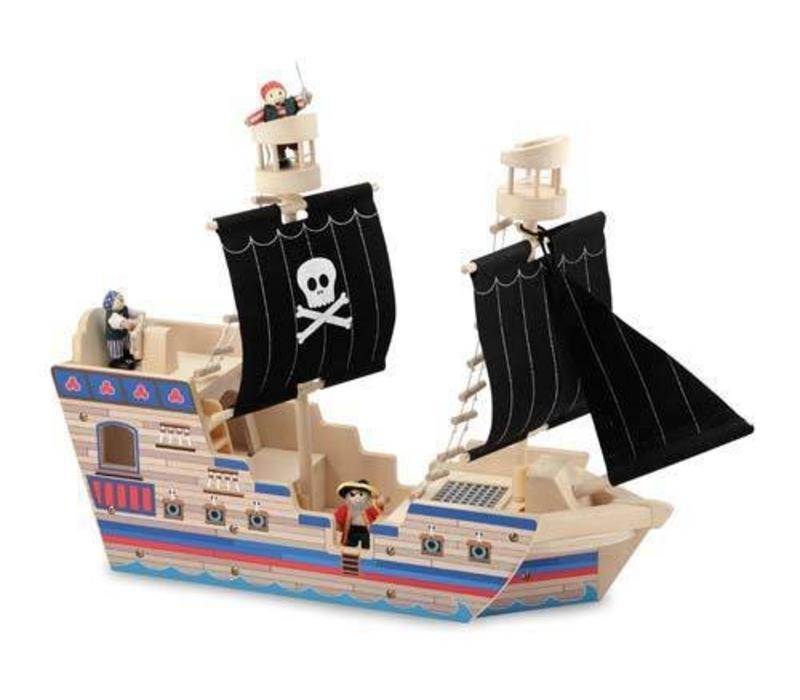Melissa And Doug Deluxe Pirate Ship Play Set