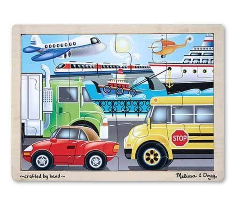Melissa And Doug Vehicles Jigsaw Puzzle 12pc