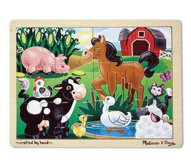 Melissa And Doug On The Farm Jigsaw Puzzle 12pc