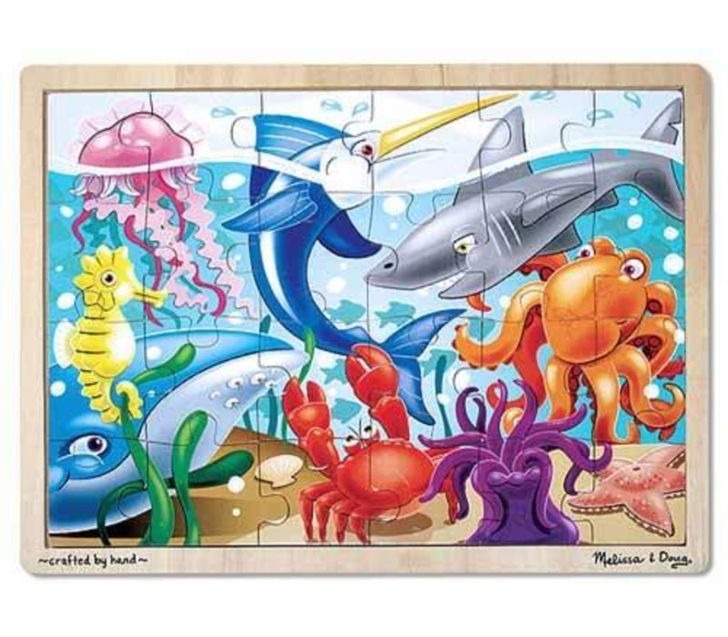 Melissa And Doug Under The Sea Jigsaw Puzzle 24pc