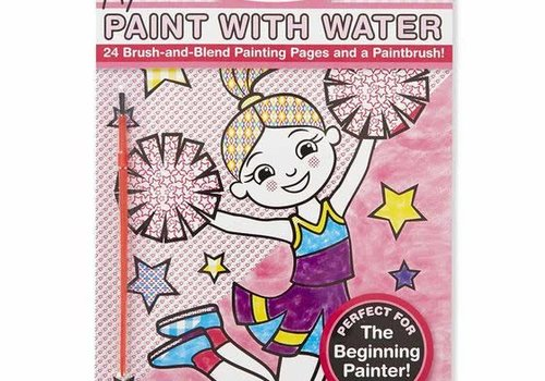 Melissa And Doug Melissa And Doug My First Paint With Water Kids' Art Pad With Paintbrush - Cheerleaders, Flowers, Fairies, and More