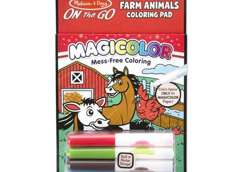 Melissa And Doug Melissa And Doug Magicolor Coloring Pad- Farm Animals