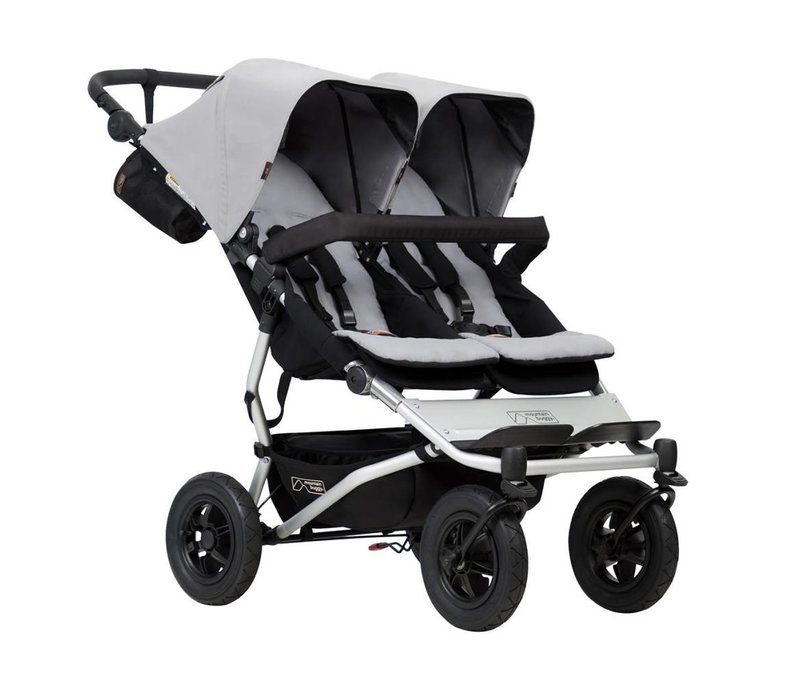 2017 Mountain Buggy Duet Double In Silver