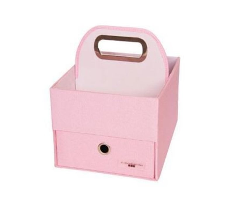 JJ Cole Diapers And Wipes Caddy In Pink Heather