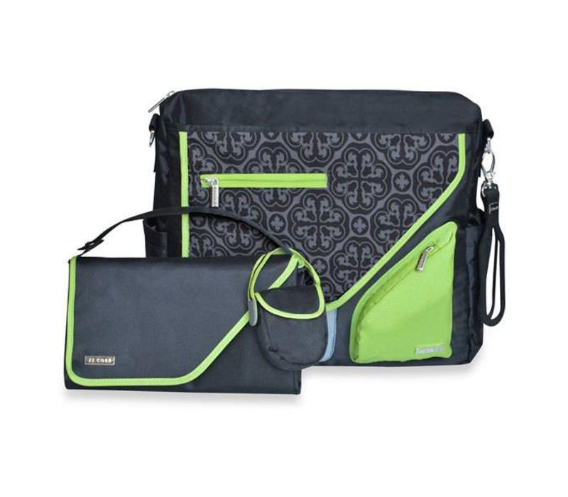 JJ Cole Metra Diaper Bag Midnight Clover