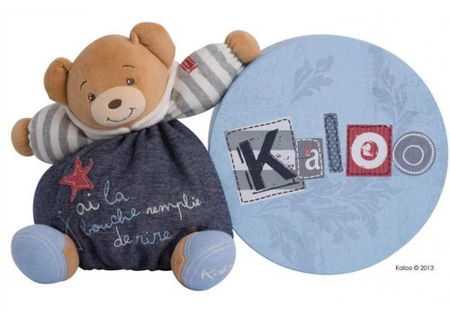 Kaloo Kaloo Denim Medium Bear In Happy
