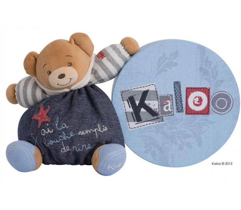 Kaloo Denim Medium Bear In Happy