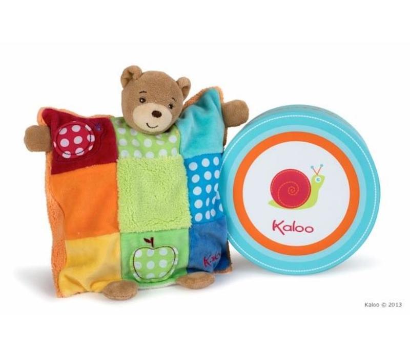 Kaloo Colors Doudou Bear Patchwork