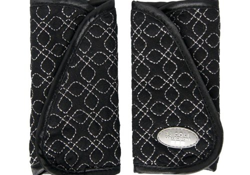 JJ Cole Collections JJ Cole Strap Covers In Black Triangle Stitch