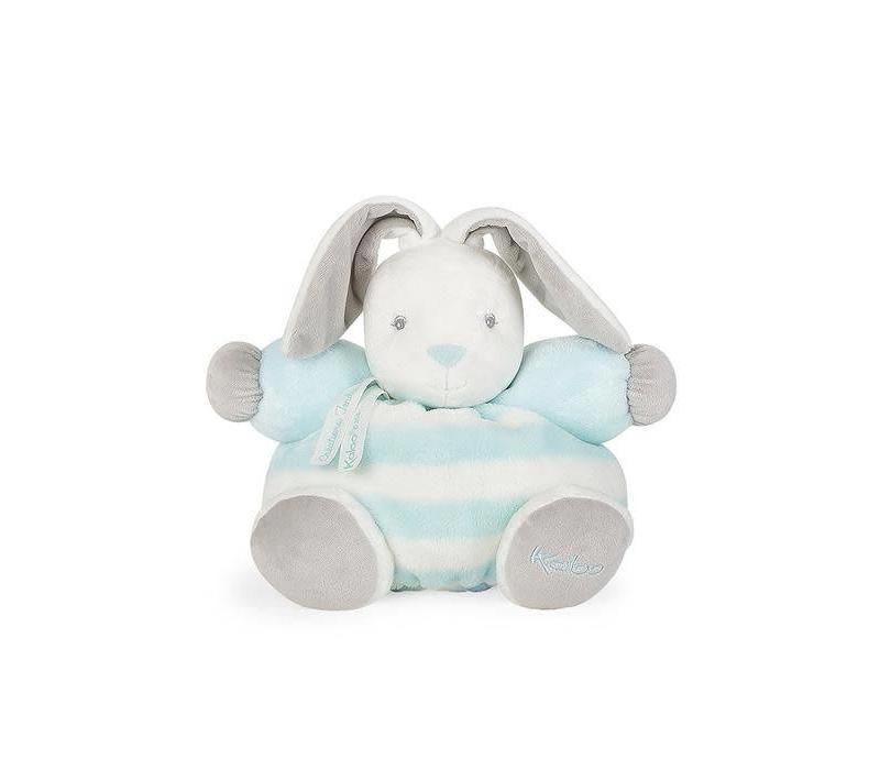"Kaloo Bebe Pastel Chubby Rabbit Aqua and Cream"" Toy (Medium)"
