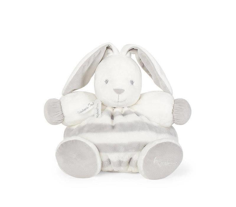 "Kaloo Bebe Pastel Chubby Rabbit Grey and Cream"" Toy (Large)"