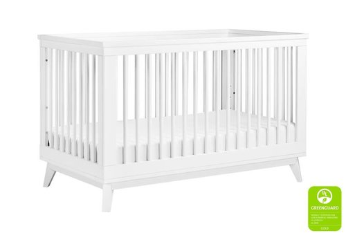 Baby Letto Baby Letto Scoot 3 In 1 Convertible Crib With Toddler Rail In White