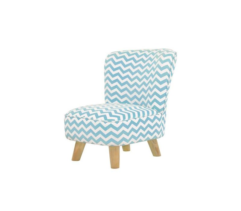 Baby Letto Pop Mini Chair In Chevron Blue For Toddlers