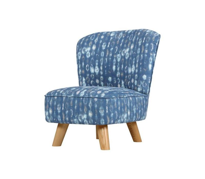 Baby Letto Pop Mini Chair In Indigo Blue For Toddlers
