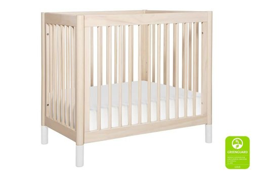 Baby Letto Baby Letto Gelato 2 In 1 Mini Crib In Washed Natural- White (Pad Included)