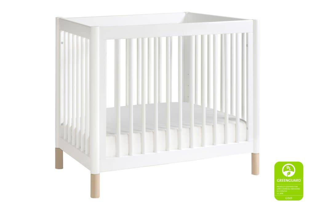 Baby Letto Baby Letto Gelato 2 In 1 Mini Crib In White  Washed Natural (Pad  Included)