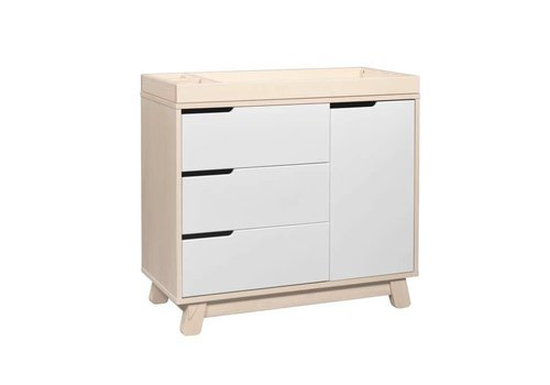 Baby Letto Baby Letto Hudson Dresser With Changer Tray In White With Washed Natural