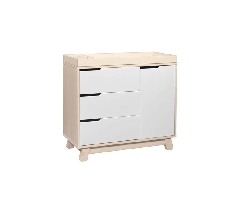 Baby Letto Hudson Dresser With Changer Tray In White With Washed Natural