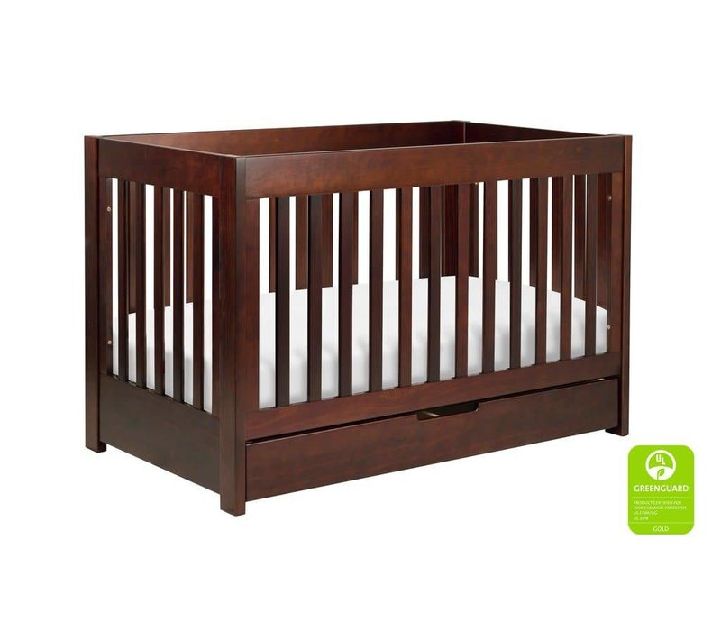 Baby Letto Mercer 3 In 1 Convertible Crib With Toddler Rail In Espresso