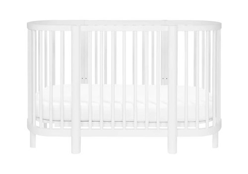 Baby Letto Baby Letto Hula Oval Convertible Crib with Mini/Bassinet Conversion In White
