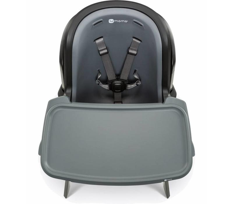 2017 4moms High Chair In Black- Grey