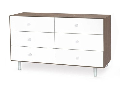 Oeuf Oeuf Classic 6 Drawer Dresser In Walnut/White