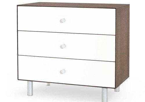 Oeuf Oeuf Classic 3 Drawer Dresser In Walnut/ White