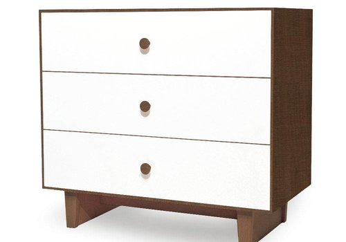 Oeuf Oeuf Rhea 3 Drawer Dresser In Walnut/White