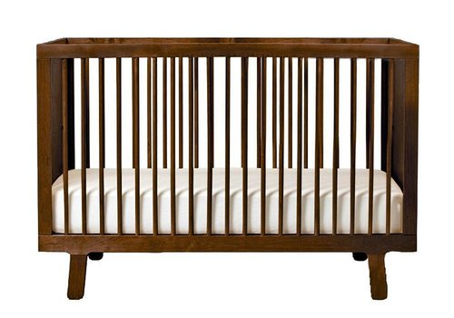 Oeuf Oeuf Sparrow Crib In Walnut