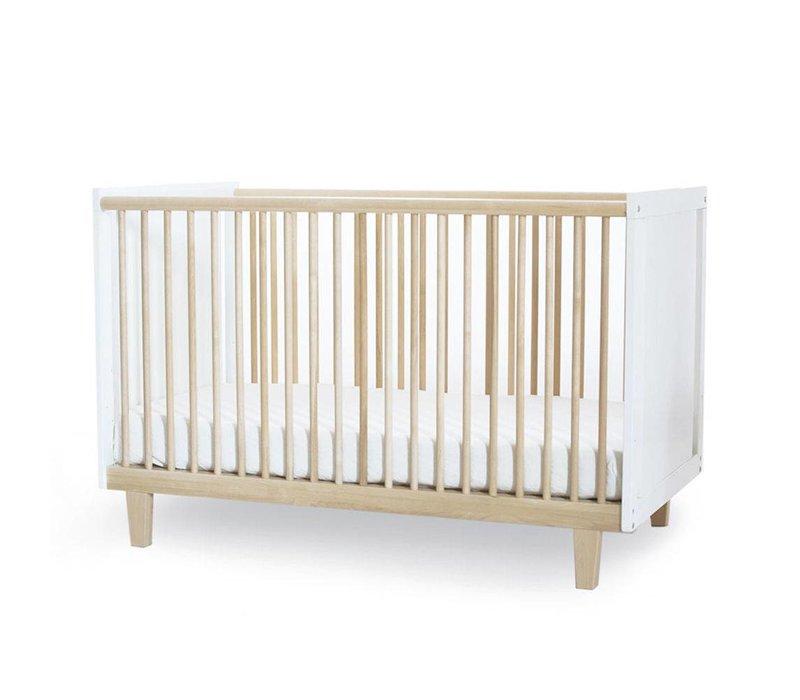 Oeuf Rhea Crib In White/Birch