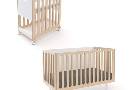 Oeuf Oeuf Fawn 2 In 1 Bassinet -Crib System In Natural-White