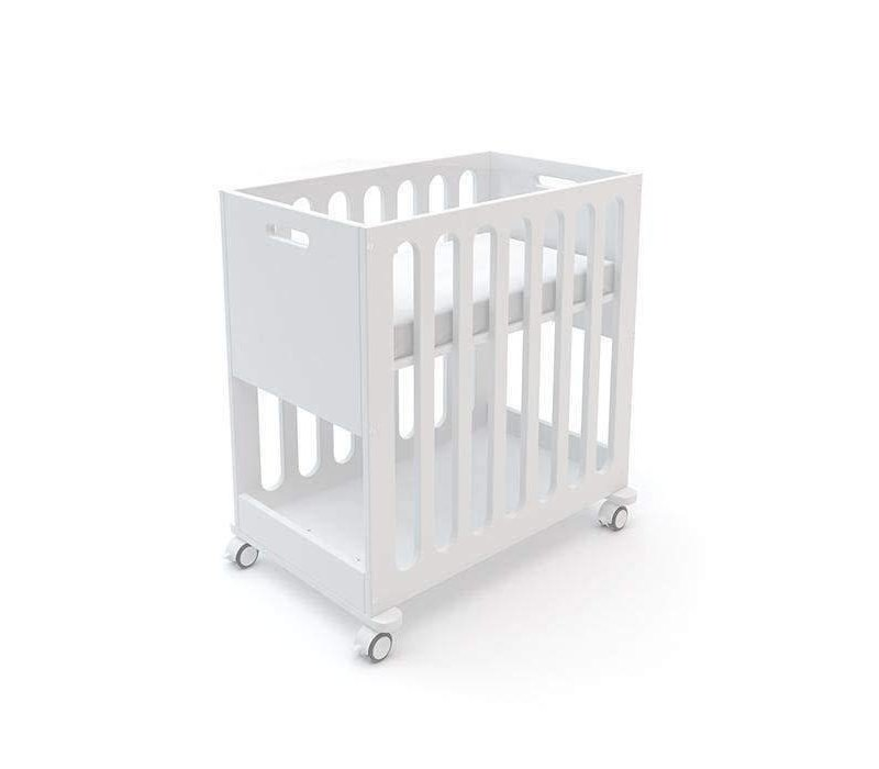 Oeuf Fawn 2 In 1 Bassinet -Crib System In All White