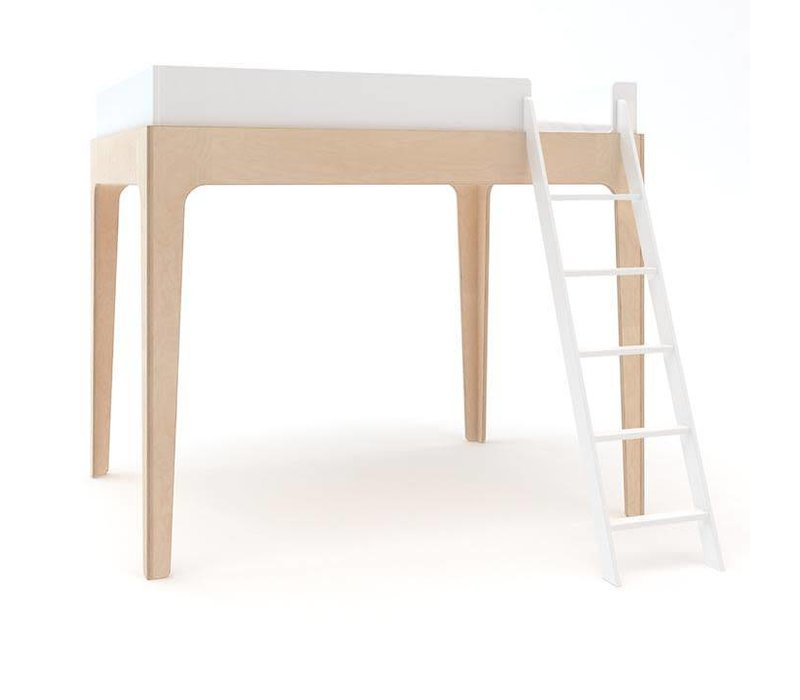 Oeuf Perch Collection Twin Size Loft Bed In White/Birch