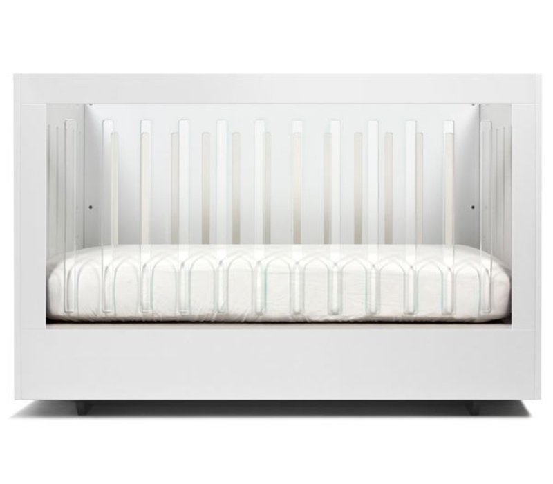 Spot On Square Roh Crib In White- 2 Sides Acrylic